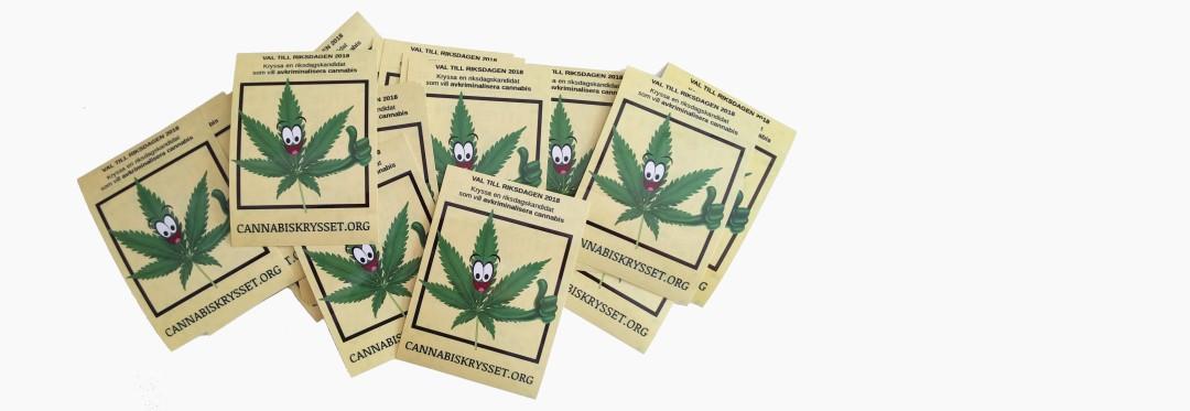 Cannabiskryssets klistermärken