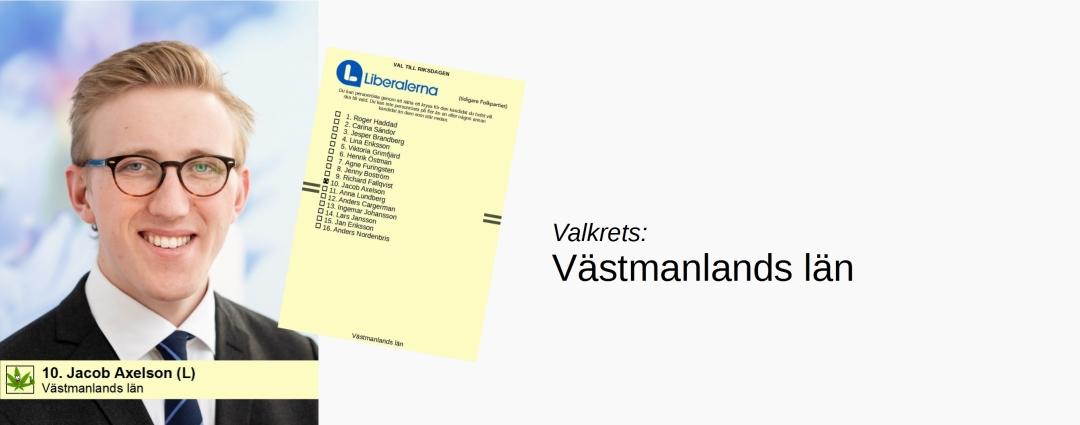 10. Jacob Axelson, Västmanlands läns valkrets
