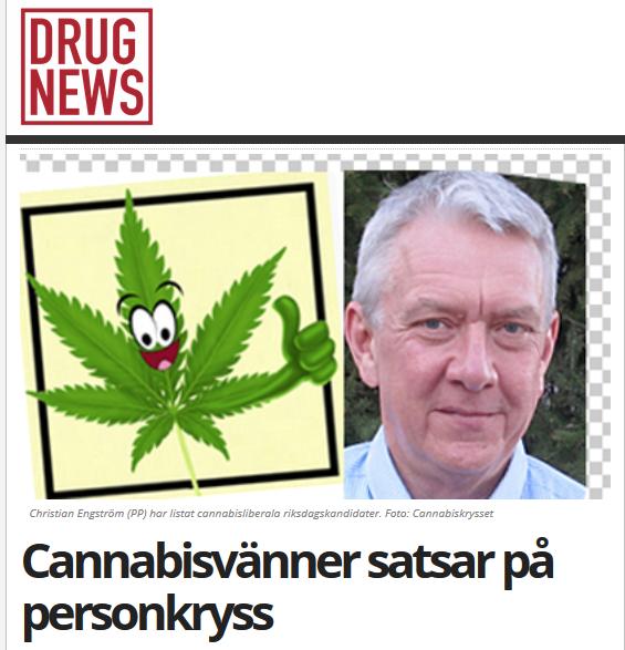 Artikel hos Drugnews: Cannabisvänner satsar på personkryss